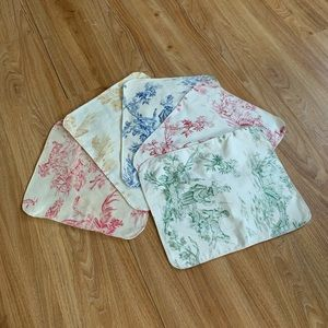 Handmade upcycled placemats set of 5